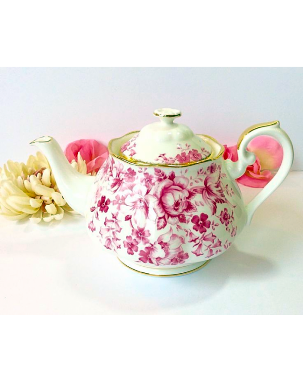 (OUT OF STOCK) ROYAL ALBERT RED PARADISE TEAPOT